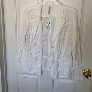 White cotton jacket.